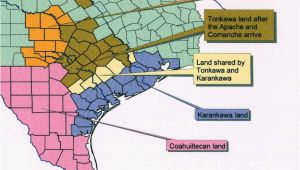 Indian Tribes Of Texas Map Karankawa Indians