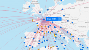 International Airports In France Map All Flights Worldwide On A Flight Map Flightconnections Com