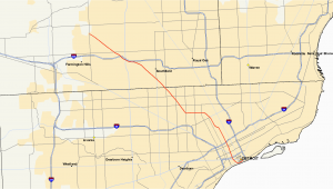 Interstate Map Of Michigan M 10 Michigan Highway Wikipedia