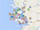 Ireland Castles Map Map Of Connemara Sights Ireland Ireland Map Connemara Ireland