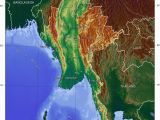 Ireland Elevation Map topographic Map Of Myanmar P1 Burma Campaign Singapore Travel