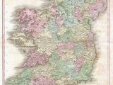 Ireland Map by County File 1818 Pinkerton Map Of Ireland Geographicus Ireland