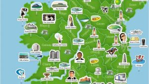 Ireland Map with attractions Map Of Ireland Ireland Trip to Ireland In 2019 Ireland Map