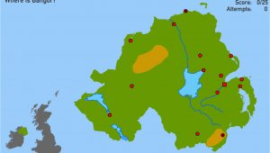 Ireland Physical Map Physical Geography Of northern Ireland Physical Features Of norhtern