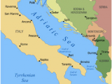 Italy and Surrounding Countries Map Adriatic Sea Wikipedia