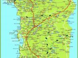 Italy Destinations Map Large Detailed Map Of Sardinia with Cities towns and Roads