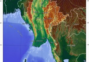 Italy Elevation Map topographic Map Of Myanmar P1 Burma Campaign Singapore Travel