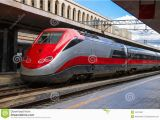 Italy High Speed Train Map the Train Stops Near the Platform Station In Italy Stock Image