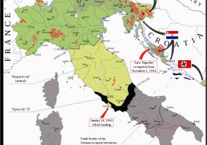 Italy Map Ww2 Map Of the Italian social Republic 1943 1945 Its Territory W