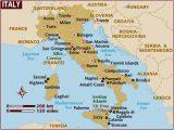 Italy Mediterranean Coast Map Map Of Italy