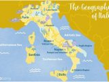 Italy Mediterranean Coast Map where to Go On the Mediterranean Coast Of Italy