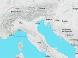 Italy Mountains Map Walkabout Map Style A Mapzen