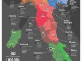 Italy Wine Region Map Italy Wine Map Wine Cheese Italienischer Wein Italien Karte