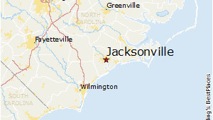 Jacksonville north Carolina Map Map Of Jacksonville north Carolina Bnhspine Com