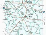 Kemp Texas Map Map Of Texas Roads