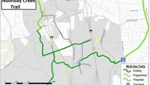Kennesaw Georgia Map Trail Map for Noonday Creek Multi Use Trail Picture Of Noonday