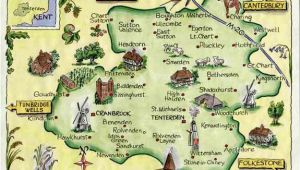 Kent On A Map Of England Weald Of Kent Family Heritage Village Map Website Link