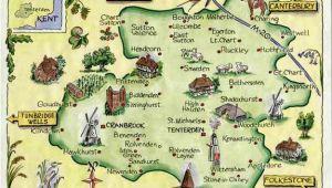 Kent On Map Of England Weald Of Kent Family Heritage Village Map Website Link Map Art