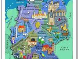 Kids Map Of Ireland Illustrated Kids Wall Map Of Germany In Both German and