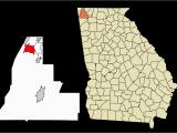 King County Georgia Map Chattanooga Valley Georgia Wikipedia