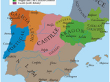 Kingdoms Of Spain Map History Of Spain Wikipedia