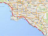 La Costa California Map Driving the Pacific Coast Highway In southern California