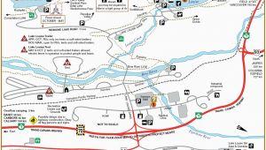 Lake Louise Map Canada Lake Louise Campground