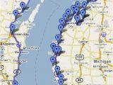 Lake Michigan Circle tour Map Lake Michigan Circle tour Great Info On This Web Site