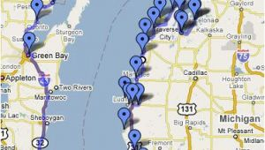 Lake Michigan Circle tour Map Lake Michigan Circle tour Great Info On This Web Site