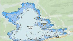 Lake Michigan Depth Map Medora Lake Fishing Map Us Mi 42 86 Nautical Charts App