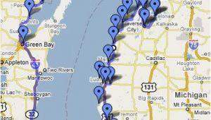 Lake Michigan Lighthouse Map Lake Michigan Circle tour Great Info On This Web Site