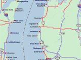 Lake Michigan Lighthouses Map 26 Lastest Map Michigan Lakes Bnhspine Com