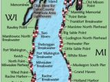Lake Michigan Lighthouses Map 295 Best Michigan Images In 2019 Michigan Lakes Light House