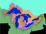 Lake Michigan Map with Cities Facts and Figures the Great Lakes Us Epa