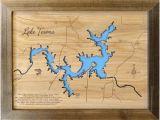 Lake Whitney Texas Map Texas Lake Map Etsy