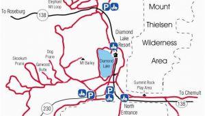 Lakes In oregon Map Diamond Lake Map Snowmobiles Diamond Lake oregon Vacation