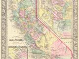 Landers California Map Vintage State Map California 1860 Gift Ideas Pinterest