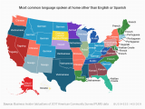 Language Map Of Spain This Map Shows the Most Commonly Spoken Language In Every Us