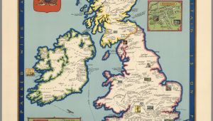 Large Map Of England the Booklovers Map Of the British isles Paine 1927 Map