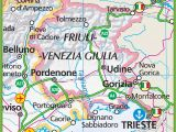 Large Map Of Italy Printable Large Map Of Friuli Venezia Giulia