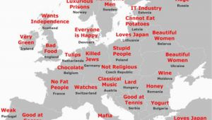 Latvia Map Of Europe the Japanese Stereotype Map Of Europe How It All Stacks Up