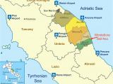 Le Marche Region Italy Map Location Of Montefiore Dell aso Province ascoli Piceno Capital Of