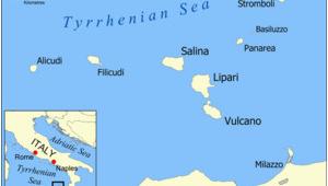 Lipari Italy Map Battle Of the Lipari islands Revolvy