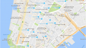 Little Italy Map Nyc Financial District Neighborhood New York City Map