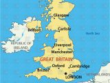 Liverpool On Map Of England Map Of the United Kingdom Stock Vector Image