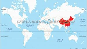 Location Of England On World Map Location Map Of China Shows where is Its Presence In the