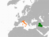 Location Of Italy In World Map Iraq Italy Relations Wikipedia