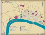 London England On A Map This Map Shows the Size and Layout Of Medieval London In