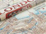 London England On the Map Dekostoff London Map Uk England Leinenoptik Canvas Bunt