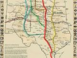 Lonesome Dove Texas Map Cattle Trails Of the Old West Map Reproduction Lonesome Dove Cattle